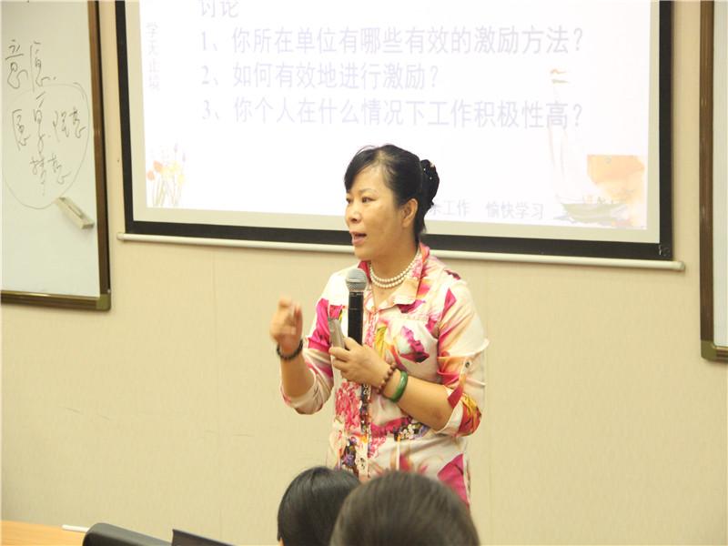 山东大学在职研究生孙卫敏老师讲课图